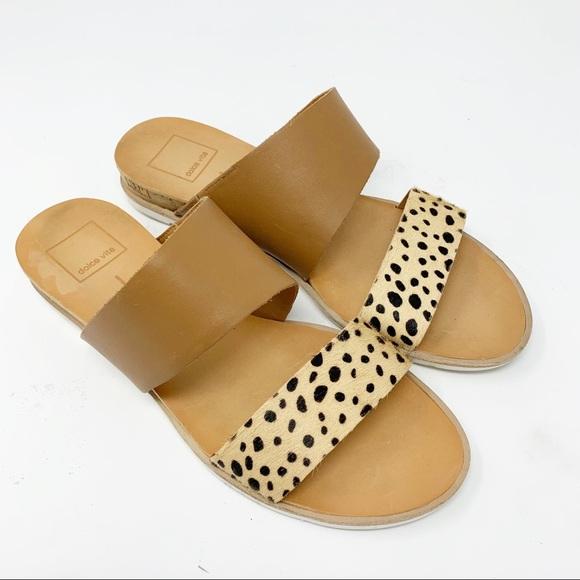 cf5eaecd138c Dolce Vita Shoes | Sandals 75 Valawedge Tan Leopard | Poshmark